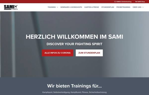Vorschau von www.sami.at, SAMI - Selfdefense and Martial Arts Institute, Wien