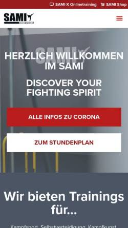 Vorschau der mobilen Webseite www.sami.at, SAMI - Selfdefense and Martial Arts Institute, Wien