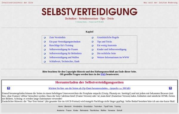Vorschau von www.stuecke.net, Selbstverteidigung