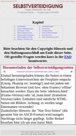 Vorschau der mobilen Webseite www.stuecke.net, Selbstverteidigung