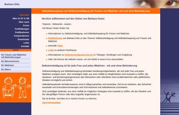 Vorschau von www.bgoetz-selbstverteidigung.de, Selbstverteidigung mit Barbara Götz