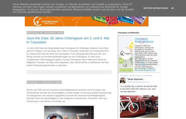Vorschau von chiemgauer.blogspot.com, Chiemgauer - Weblog von Christian Gelleri