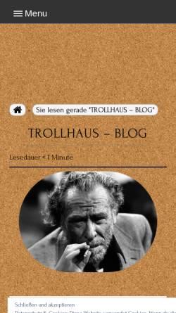 Vorschau der mobilen Webseite trollhaus.de, Das Trollhaus