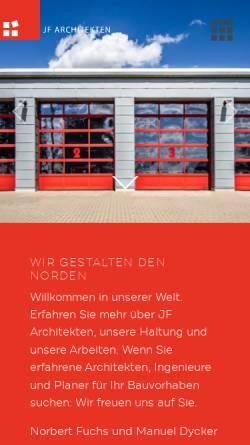 Vorschau der mobilen Webseite www.jo-fu.de, Johannsen und Fuchs, Architekturbüro