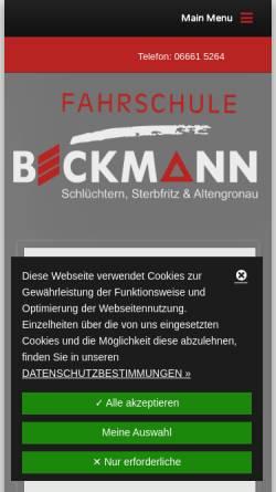 Vorschau der mobilen Webseite www.fahrschulebeckmann.de, Fahrschule Beckmann