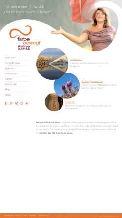 Vorschau der mobilen Webseite www.farbebewegt.at, Andrea Schmidt