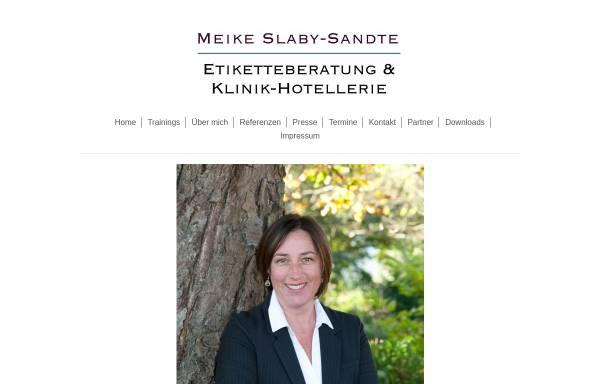 Vorschau von www.etiketteberatung.de, Etiketteberatung Meike Slaby-Sandte