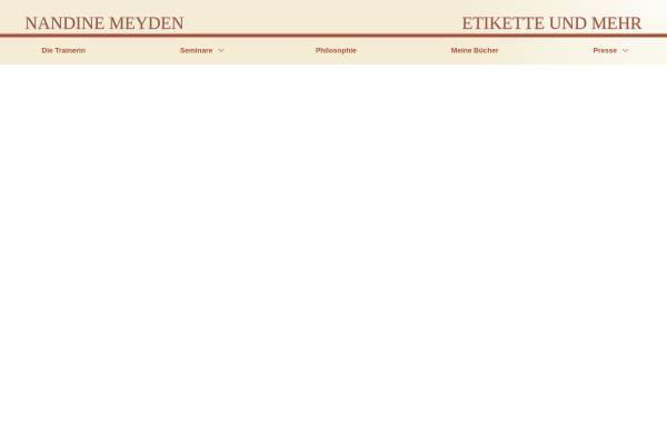 Vorschau von www.etikette-und-mehr.de, Nadine Meyden Seminare - Etikette und mehr