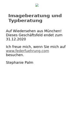 Vorschau der mobilen Webseite www.stephanie-palm.de, Stephanie Palm: Imageberatung, Profil und Persönlichkeit