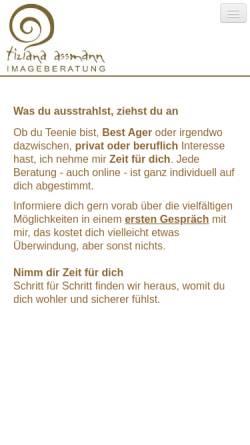 Vorschau der mobilen Webseite www.image-mode-beratung.de, Tiziana Assmann