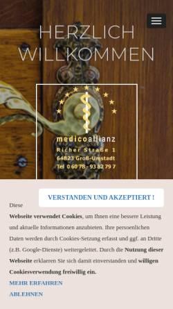 Vorschau der mobilen Webseite www.medicoallianz.de, Medicoallianz
