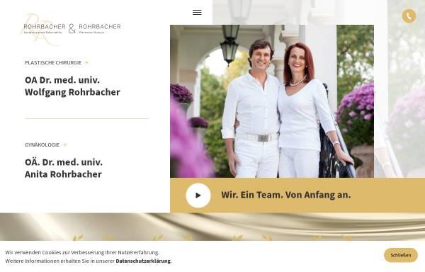 Vorschau von www.rohrbacher.at, Rohrbacher, Dr. med. univ. Wolfgang, Rohrbacher, Dr. med. univ. Anita, Praxis für plastische Chirurgie und Gynäkologie