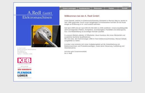 Vorschau von www.redl-gmbh.de, A. Redl GmbH