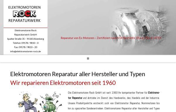 Vorschau von www.elektromotoren-rock.de, Elektromotoren - Reparaturwerk Rock GmbH