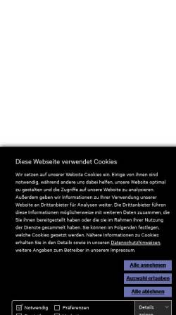 Vorschau der mobilen Webseite www.carpus.de, Carpus + Partner AG