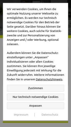 Vorschau der mobilen Webseite www.scheins-beissel.de, Fliesen Scheins GmbH & Co. KG