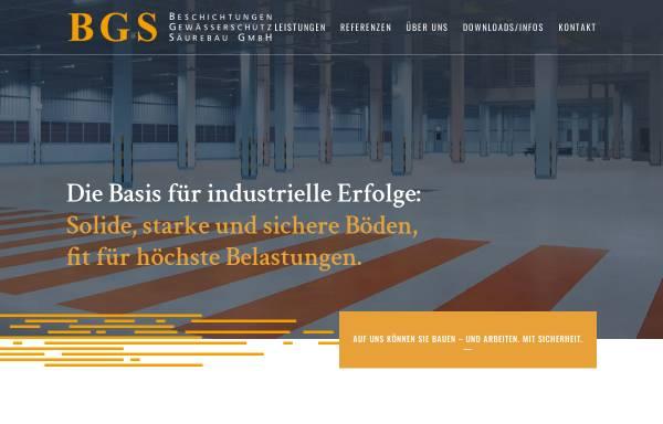 Vorschau von www.top-coatings.de, BGS Beschichtungen Gewässerschutz Säurebau GmbH