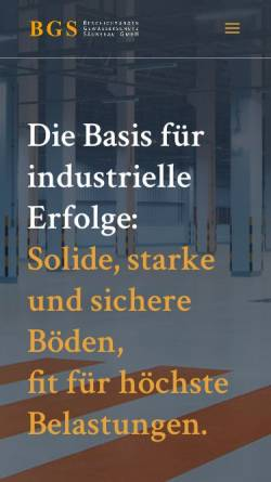 Vorschau der mobilen Webseite www.top-coatings.de, BGS Beschichtungen Gewässerschutz Säurebau GmbH
