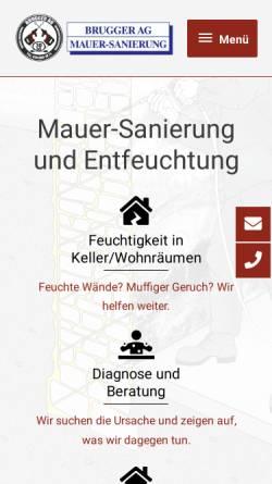 Vorschau der mobilen Webseite www.brugger-ag.ch, Brugger AG