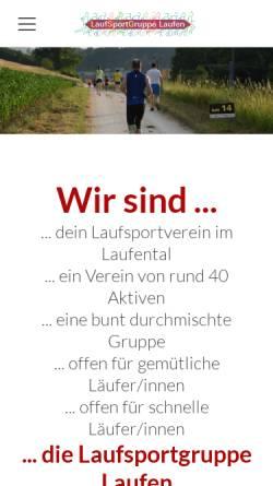 Vorschau der mobilen Webseite www.lsglaufen.ch, Laufsportgruppe Laufen