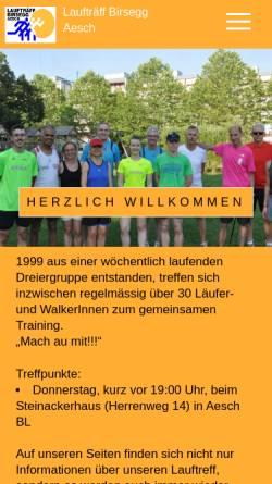 Vorschau der mobilen Webseite www.lauftraeff-birsegg.ch, Laufträff Birsegg - Aesch