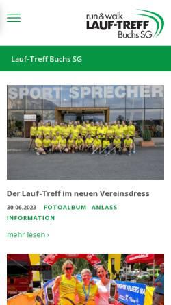 Vorschau der mobilen Webseite www.lauf-treff.ch, Lauf-Treff Buchs SG