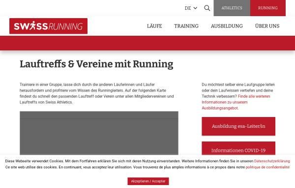 Vorschau von www.lauftreff.ch, Lauftreffs Region Basel