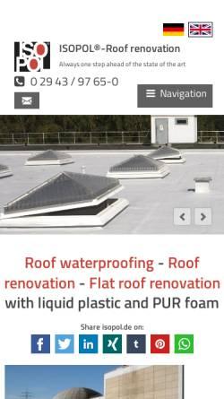 Vorschau der mobilen Webseite www.isopol.de, Isopol Dachsanierung, Inh. Heinz-Werner Schrimpf