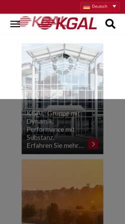 Vorschau der mobilen Webseite www.alcas.de, Alcas GmbH