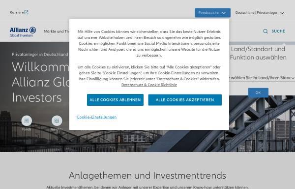 Vorschau von www.allianzglobalinvestors.de, Allianz Global Investors Kapitalanlagegesellschaft mbH