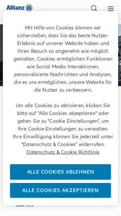 Vorschau der mobilen Webseite www.allianzglobalinvestors.de, Allianz Global Investors Kapitalanlagegesellschaft mbH