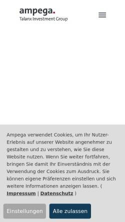 Vorschau der mobilen Webseite www.ampega.de, Ampega Investment AG