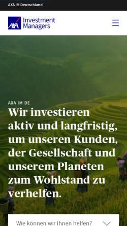 Vorschau der mobilen Webseite www.axa-im.de, AXA Investment Managers Deutschland GmbH