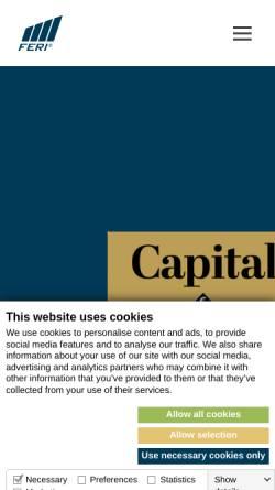 Vorschau der mobilen Webseite www.feri.de, Feri Trust GmbH