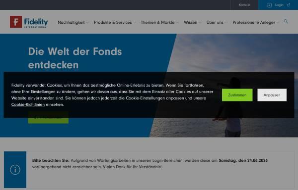 Vorschau von www.fidelity.de, FIL Investment Services GmbH