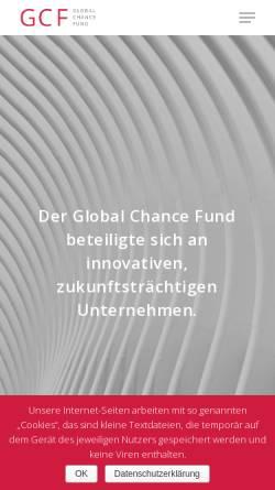 Vorschau der mobilen Webseite www.global-chance-fund.de, GC Global Chance Fund GmbH & Co. KG