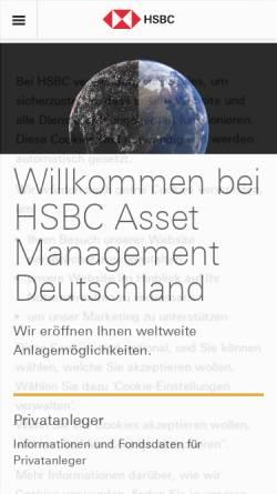 Vorschau der mobilen Webseite www.assetmanagement.hsbc.com, HSBC Global Asset Management