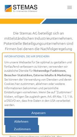 Vorschau der mobilen Webseite stemas.de, STEMAS AG