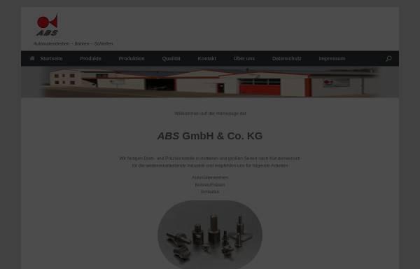 Vorschau von www.abs-drehteile.com, ABS GmbH und Co. KG