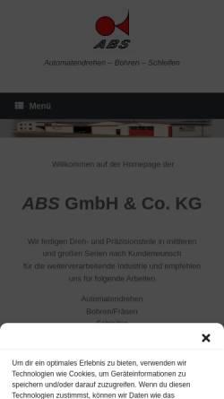 Vorschau der mobilen Webseite www.abs-drehteile.com, ABS GmbH und Co. KG