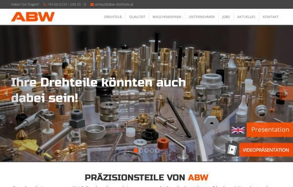 Vorschau von www.abw-drehteile.at, ABW Automatendreherei Brüder Wieser Ges.m.b.H.