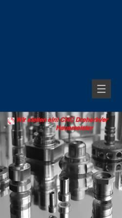 Vorschau der mobilen Webseite www.alexander-info.de, Alexander Drehen und Fräsen GmbH