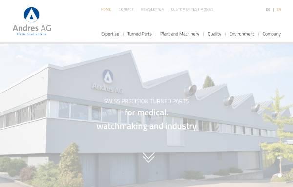 Vorschau von www.andresag.com, Andres AG