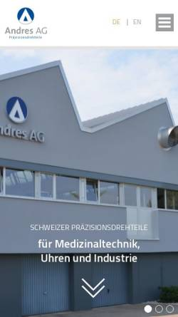Vorschau der mobilen Webseite www.andresag.com, Andres AG