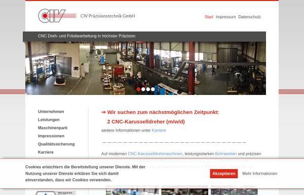 Vorschau von www.civ-burg.de, CIV Präzisionstechnik GmbH