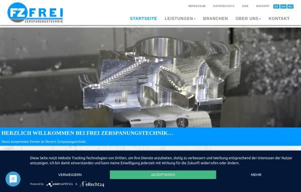 Vorschau von www.frei-gmbh.de, Frei GmbH Zerspanungstechnik