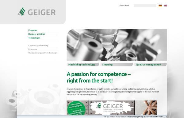 Vorschau von www.geiger-pretzfeld.de, Geiger GmbH