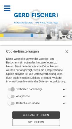 Vorschau der mobilen Webseite www.fischer-cnc.com, Gerd Fischer GmbH