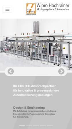 Vorschau der mobilen Webseite www.hochrainer-cnc.com, Hochrainer GmbH