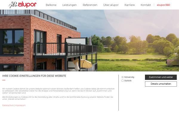 Vorschau von www.alupor.de, Fassaden + Balkongeländer GmbH